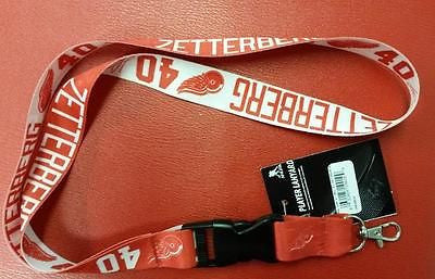 NHL Detroit Red Wings Henrik Zetterberg Lanyard with Detachable Buckle - Hockey Cards Plus LLC