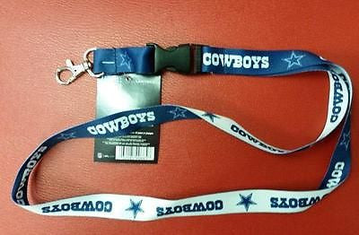 "NFL Dallas Cowboys Lanyard with Detachable Buckle ( 3/4"" W  X  22"" L ) - Hockey Cards Plus LLC"