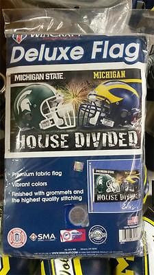 NCAA Michigan Wolverines / Michigan State Spartans House Divided Flag 3' X 5'