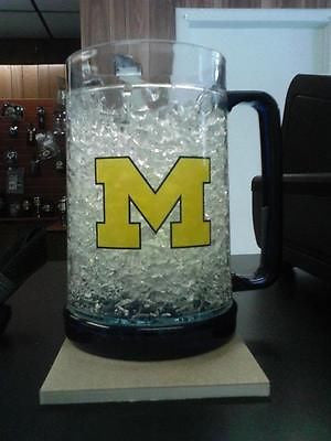 NCAA Michigan Wolverines 16oz Crystal Freezer Mug - Hockey Cards Plus LLC