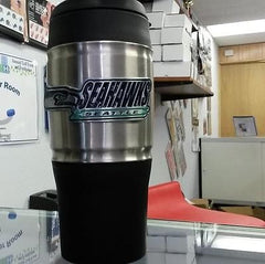 NFL Seattle Seahawks 18 oz Heavy Duty Travel Tumbler - Hockey Cards Plus LLC  - 1