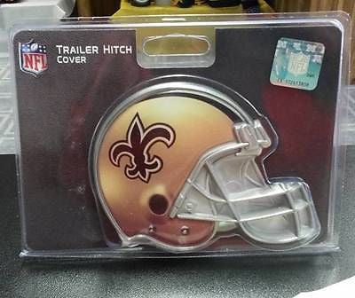 "NFL New Orleans Saints Metal Helmet Trailer Hitch Cover ( for 2"" hitch ) - Hockey Cards Plus LLC"