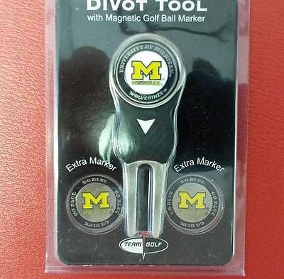 NCAA Michigan Wolverines Golf Divot Tool Pack with 3 Ball Markers - Hockey Cards Plus LLC