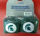 "NCAA Michigan State Spartans 3""  Fuzzy  Dice - Hockey Cards Plus LLC"