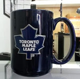 NHL Toronto Maple Leafs 15oz Ceramic Blue Coffee Mug with Team Logo - Hockey Cards Plus LLC