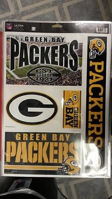 "NFL Licensed Green Bay Packers 11"" X 17"" Decal Sheet - Hockey Cards Plus LLC"