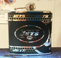 NFL New York Jets 6oz Stainless Steel Flask with 360 Wrap - Hockey Cards Plus LLC  - 1