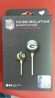 NFL Licensed Green Bay Packers Team Earbuds - Hockey Cards Plus LLC