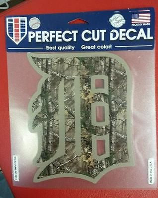"MLB Detroit Tigers Realtree Camouflage Perfect Cut Color Decal 6"" X 7"""
