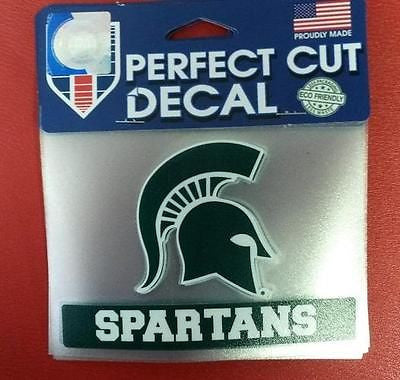 "NCAA Michigan State Spartans Perfect Cut Color Decal 4.5"" x 5.75"" - Hockey Cards Plus LLC"