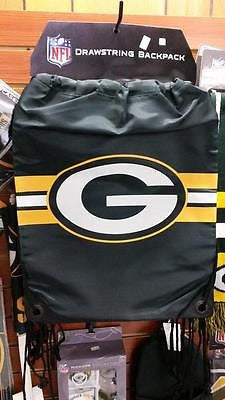 NFL Green Bay Packers Team Drawstring Backpack - Hockey Cards Plus LLC