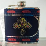 NHL Florida Panthers 6 oz Stainless Steel Hip Flask with 360 Wrap - Hockey Cards Plus LLC  - 1