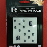 MLB Detroit Tigers Face & Fingernail Tattoos - Hockey Cards Plus LLC