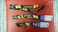 NCAA Licensed Michigan Wolverines Dog Collar - Hockey Cards Plus LLC  - 1