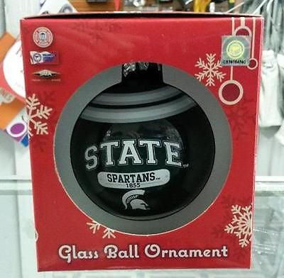 NCAA Michigan State Spartans 2014 Plaque Ball Ornament