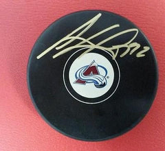Gabriel Landeskog Autographed Colorado Avalanche Logo Puck - JSA - Hockey Cards Plus LLC