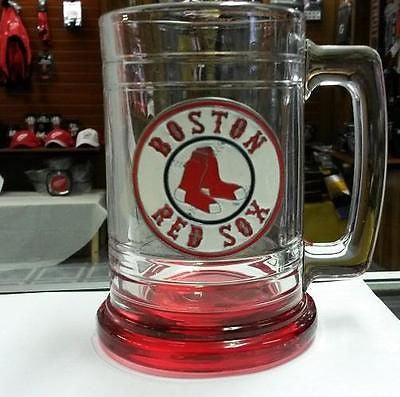 MLB Boston Red Sox 15oz  Glass Tankard with Red Bottom