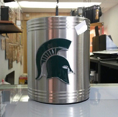 NCAA Michigan State Spartans Stainless Steel Can Holder (Logo) - Hockey Cards Plus LLC