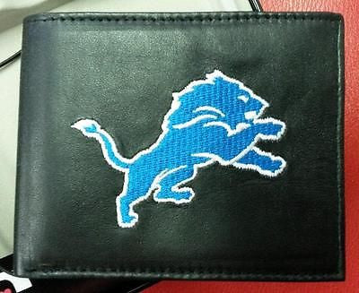 NFL Detroit Lions Embroidered Billfold / Wallet - Hockey Cards Plus LLC
