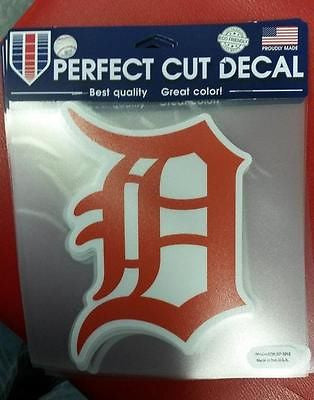 "MLB Detroit Tigers Orange Perfect Cut Color Decal 8"" X 8"""