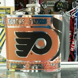 NHL Philadelphia Flyers 6 oz Hip Flask with 360 Wrap - Hockey Cards Plus LLC  - 1