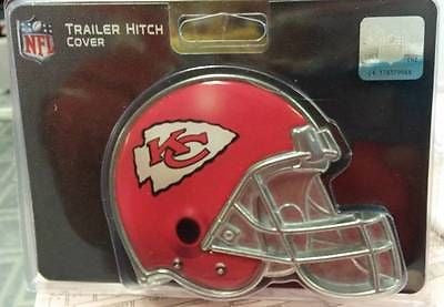 "NFL Kansas City Chiefs Metal Helmet Trailer Hitch Cover ( for 2"" hitch ) - Hockey Cards Plus LLC"