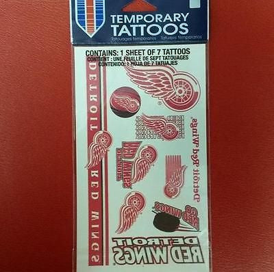 NHL Detroit Red Wings Temporary Tattoo Sheet - Hockey Cards Plus LLC