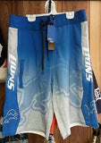 NFL Licensed Detroit Lions Gradient Board Shorts / Swimsuit - Hockey Cards Plus LLC  - 1