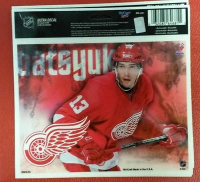 "NHL Detroit Red Wings Pavel Datsyuk Multi-Use Colored Decal 5"" x 6"" - Hockey Cards Plus LLC"