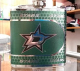 NHL Dallas Stars 6 oz Hip Flask with 360 Wrap - Hockey Cards Plus LLC  - 1