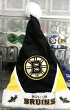 NHL Boston Bruins Santa Hat - Hockey Cards Plus LLC