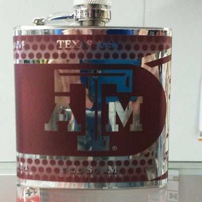 NCAA Texas A&M Aggies 6oz Stainless Steel Flask with 360 Wrap