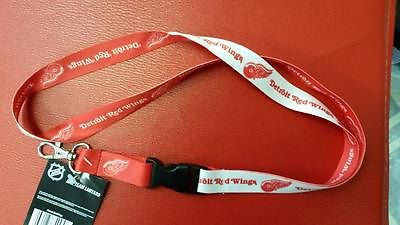 "NHL Detroit Red Wings Lanyard with Detachable Buckle ( 3/4"" W X 22"" L ) - Hockey Cards Plus LLC"
