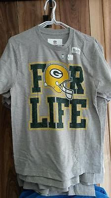 "NFL Licensed Green Bay Packers  ""For Life"" Tee Shirt - Hockey Cards Plus LLC  - 1"