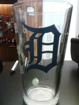 MLB Detroit Tigers 16oz Satin Etch Pint Glass - Hockey Cards Plus LLC