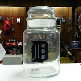 MLB Detroit Tigers Glass Candy Jar - Hockey Cards Plus LLC