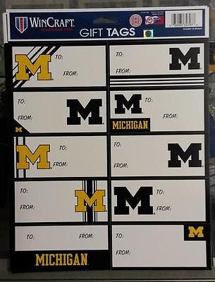 NCAA Michigan Wolverines Gift Tags - Hockey Cards Plus LLC