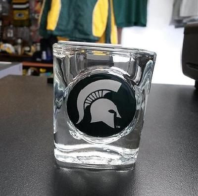 NCAA  Michigan State Spartans 2oz Logo Shot Glass - Hockey Cards Plus LLC