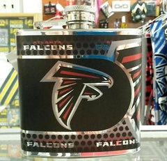 NFL Atlanta Falcons 6oz Stainless Steel Flask with 360 Wrap - Hockey Cards Plus LLC  - 1