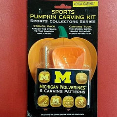 NCAA Michigan Wolverines Halloween Pumpkin Carving Kit - Hockey Cards Plus LLC