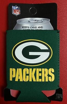 NFL Green Bay Packers Green Neoprene Can Holder / Can Coozie - Hockey Cards Plus LLC