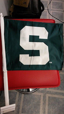 NCAA Michigan State Spartans Car Flag - Hockey Cards Plus LLC