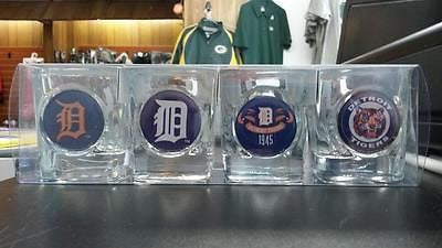 MLB Detroit Tigers 4pc Collector's Shot Glass Set - Hockey Cards Plus LLC