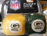 "NFL Green Bay Packers 3""  Fuzzy  Dice - Hockey Cards Plus LLC"