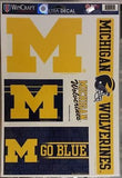 "NCAA Michigan Wolverines 11"" X 17"" Decal Sheet - Hockey Cards Plus LLC"