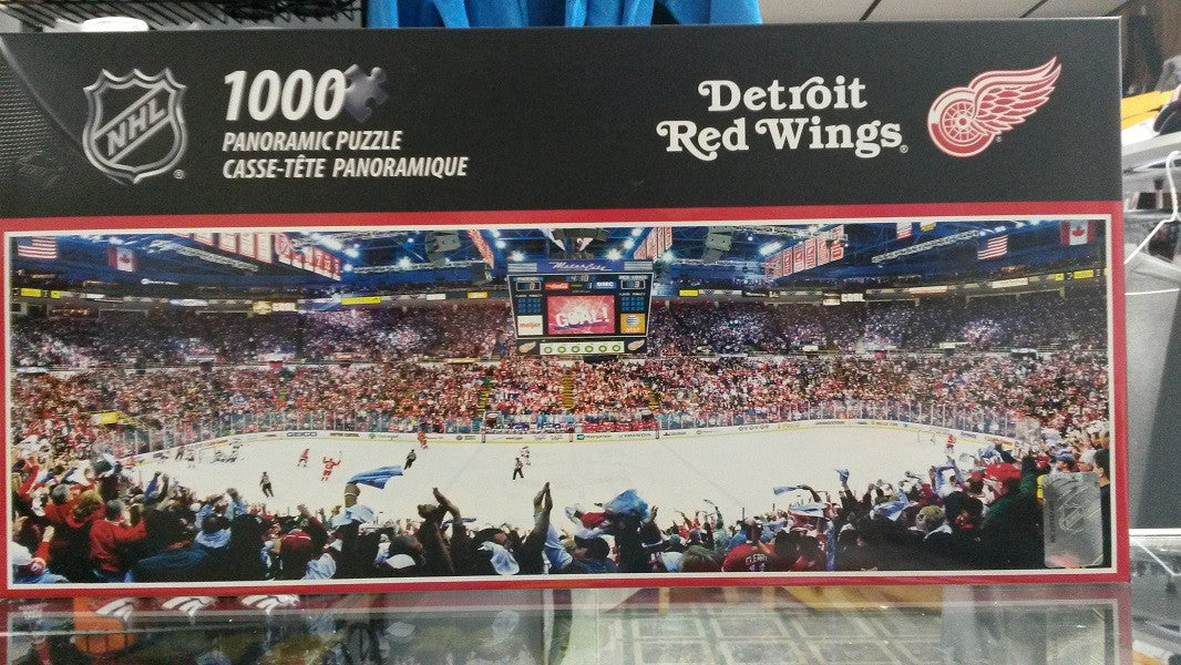 NHL Detroit Red Wings Joe Louis Arena 1000 Piece Panoramic Puzzle - Hockey Cards Plus LLC