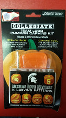 NCAA Michigan State Spartans Halloween Pumpkin Carving Kit - Hockey Cards Plus LLC