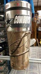 NFL Dallas Cowboys 16oz Stainless Steel RealTree Camouflage Travel Tumbler - Hockey Cards Plus LLC