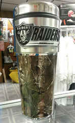 NFL Oakland Raiders 16oz Stainless Steel RealTree Camouflage Tumbler - Hockey Cards Plus LLC  - 1