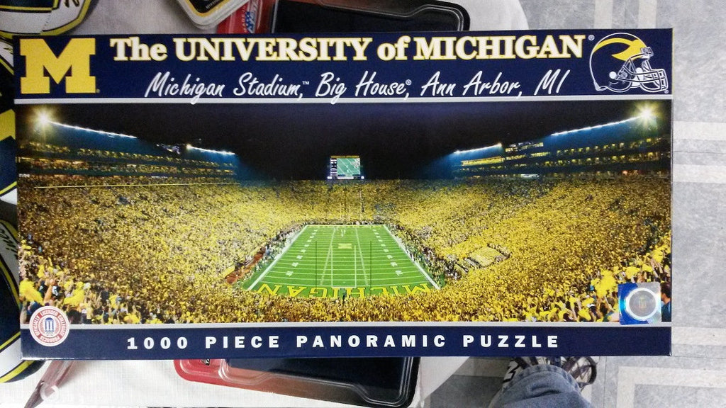 "NCAA Michigan Wolverines ""The Big House"" 1000 Piece Panoramic Puzzle"